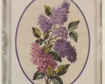 Helen Burgess Counted Thread Design. Lilacs Pattern. HB4041.