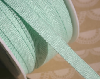 """MINT Twill Tape Trim -  Polyester - Sewing Banners Bunting Shipping Packaging - 3/8"""" Wide - 10 Yards"""