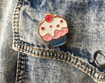 Frosted Cupcake Enamel Pin