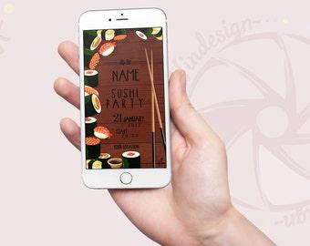 Whatsapp Invite Theme: Sushi Party