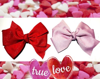 True Love/Bow/Headband/red/pink/hair clip/valentines day/girl/holiday