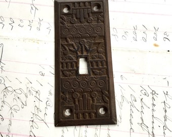 East Lake Light Switch Plate Art Deco Antique Hardware