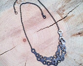 Upcycled Bicycle Chain Statement Necklace - bicycle gift, bicycle accessories, bicycle lovers gift