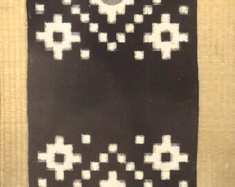 Japanese  Antique indigo Egasuri 19th Century Meiji period.(1860 -1912)   collectors item