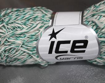 Pincushion, cotton, tabasco, green and white