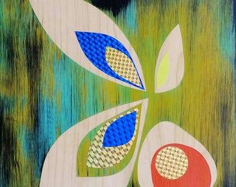 Flora Five - original painting shipped free
