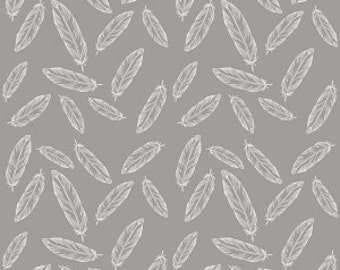 By Popular Demand Feathers in Gray - Half Yard
