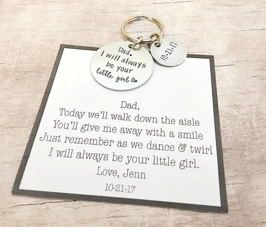 Father Of The Bride Gift From Bride I Will Always Be Your