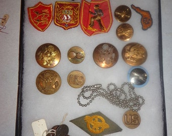 Army, Air Force, Navy metals from 1970s