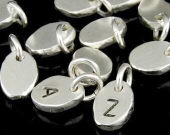 3KH-118 thai karen hill tribe handmade silver 4 blank pebble charm