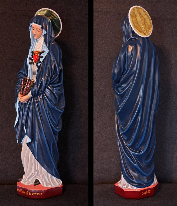 """Our Mother of Sorrows 24"""" Patroness of the Grieving"""