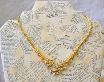 1980s Trifari Rhinestone Necklace