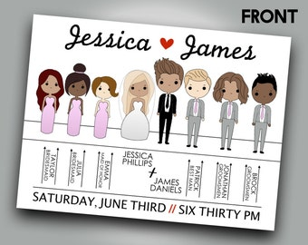 Wedding Cartoon Program | Tanner Smith Designs