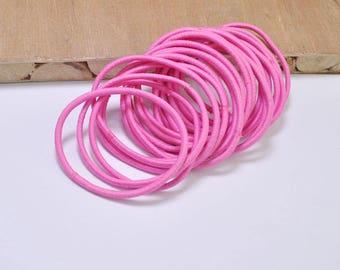 DIY hair elastics,50pcs or 100pcs Elastic Cord,Deep Pink hair elastic cord,hair ties,ponytail holder elastic,pigtail holders 2mm