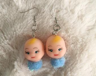 Baby Pom Pom Kewpie Earrings