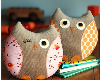 Owl Plushie PDF Sewing Pattern Instant Download