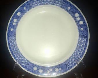 """Vintage 8 Inch Plate Adderleys LTD Flow Blue """"Bombay"""" Made In England"""