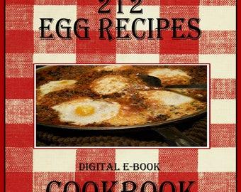 212 Egg Recipes E-Book Cookbook Digital Download