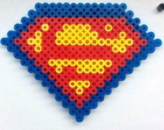 Superman Shield - Perler Beadsprite
