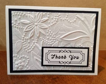 Set of 10 Thank You Cards, Handmade