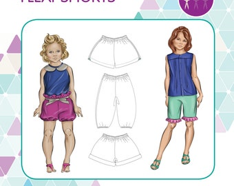 PATTERN Flexi-Shorts - PDF Sewing Pattern - Instant Download - Tadah Patterns