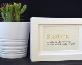 Urban Dictionary Wall Art / Student Definition / Dictionary Art / Funny Definition / Word Art
