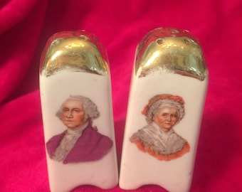 George and Martha Washington Salt and Pepper Shakers