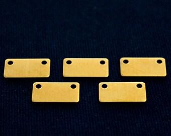 40 pcs 0.80x8x15 mm Raw Brass Rectangle Rectangle Stamping Blank, Rectangle Charm, Pendant ( 20 gauge )