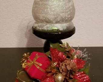 Frosted Christmas Candleholder