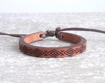 Leather Bracelet- Kids Leather Bracelet - Baby Leather Bracelet - Child Leather Bracelet  -Leather Cuff - Boho Kids- Kids fashion- diamond