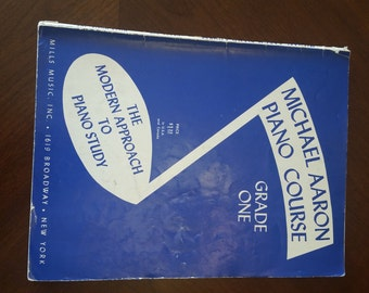 "VINTAGE piano book, ""Michael Aaron Piano Course Grade One,"" 1950s"
