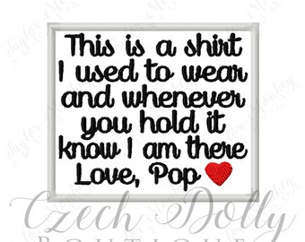This is a shirt I used to wear Love Pop w/ Heart Iron On or Sew On Patch Memorial Memory Patch for Shirt Pillows