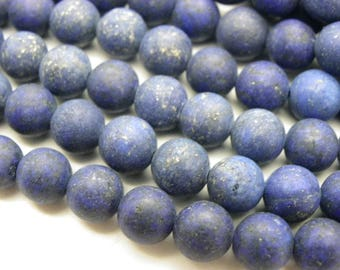 48 lapis lazuli 8 mm frosted blue frosted
