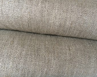 Linen Fabric Natural brown Rustic - 100% linen - 59 inches (150 cm) wide