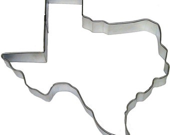 "Texas Cookie Cutter, 5""  Texas state cookie cutter"