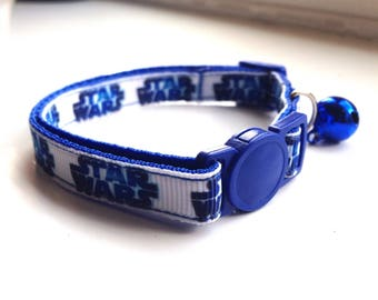 Blue Star Wars Cat/Kitten Collar (Quick Release)