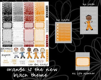 Orange is the new black stickers are perfect for Happy Planner, Kikkik, Erin Condren Life Planner, or any other planner in your life