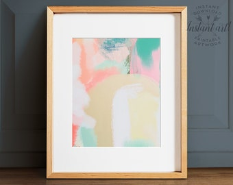 Abstract art, PRINTABLE art, Colorful wall art, Contemporary art, Modern painting, Abstract painting, Brushstroke art, Abstract print,Pastel