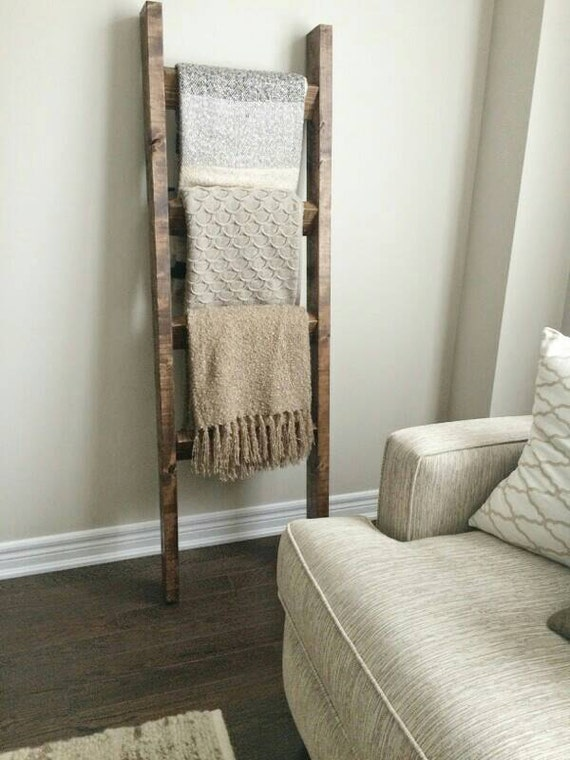 Rustic wood blanket ladder rustic ladder decor