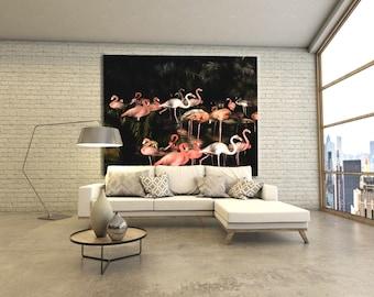 Flamingo Art Print  under Acrylic glass