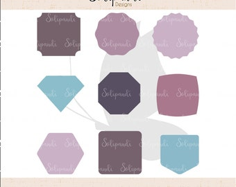 Labels/Shapes Bundle - SVG and DXF Cut Files - for Cricut, Silhouette, Die Cut Machines // scrapbooking // paper crafts // solipandi // #125