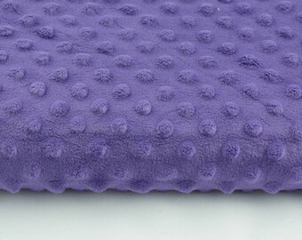 Half a metre coupon 50 minky fabric x 160 cm, purple velvet fabric / plush