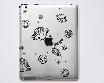 Planets Transparent iPad Case For - iPad 2, iPad 3, iPad 4 - iPad Mini - iPad Air - iPad Mini 4 - iPad Pro