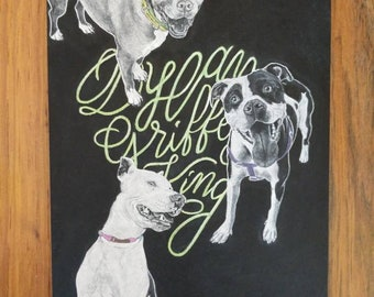 Chalk portraits of your precious pets!