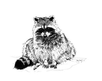 Art Print of Trash Panda I Digital Print I Wall Decor