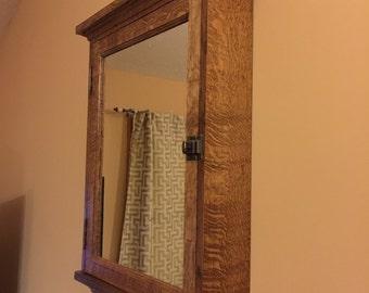 Handmade Qtr sawn oak medicine cabinet