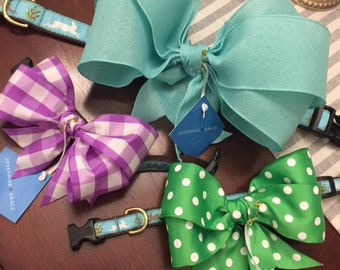Preppy Puppy Springtime Dog Collar Bow