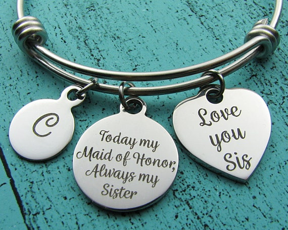 Wedding Gifts For Maid Of Honor: Maid Of Honor Gift For Sister Wedding Gift MOH Bracelet