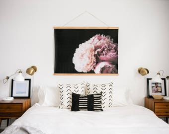 Peonies. Peony Poster. Peony Print. Peony Picture. Poster Hanger. Picture Hanger.