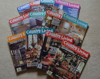 1987 Country Living Magazines, Vintage